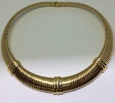 colour gold necklace images Cartier vintage 18k tri colour gold tubogas collection collar jpg