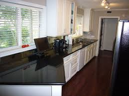 Ideas For Small Galley Kitchens Kitchen Minimalist Decorating Ideas Using Strips Light And