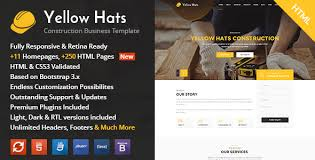 renovation theme yellow hats v1 1 construction building renovation html template