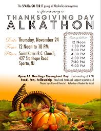 thanksgiving day alkathon tapinto