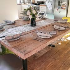 Reclaimed Dining Room Tables Reclaimed Bespoke Dining Tables