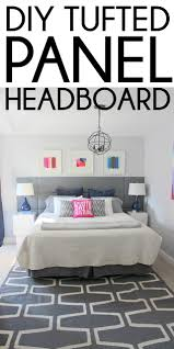 Design For Tufted Upholstered Headboards Ideas Remodelaholic Diy Tufted Panel Headboard