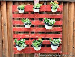 Wall Hanging Planters by Planters Made Out Of Pallets Pallet Wood Projects