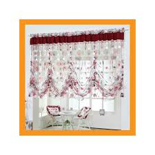 Balloon Curtains For Kitchen by Large Balloon Shade Valance Curtain W Beads Decoration