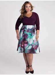 time for color and feminine style with this purple plus size dress