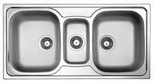 Triple Basin Kitchen Sink by Triple Bowl Kitchen Sink Stainless Steel Sky 550 Elleci