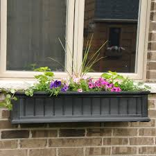 Wall Mounted Planter Mayne 60 Inch Rectangle Polyethylene Fairfield Window Box Hayneedle