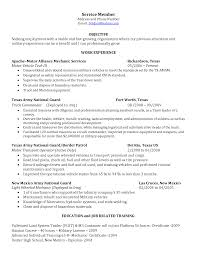 Army Resume Example by Best Photos Of Auto Mechanic Objective Automotive Mechanic