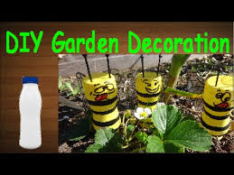 Bee Garden Decor Diy Crafts Recycling Plastic Bottles Funny Honeybees For Your