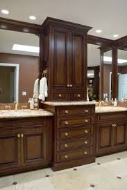 double sink vanity with middle tower bathroom double vanity with center tower google search house