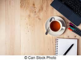 dessus de bureau café mouse bloc notes espace bureau tasse photo de stock