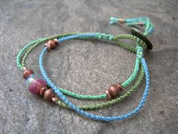 thread bracelet with beads images Kazuri copper macrame bracelet beaded bracelet friendship jpg