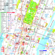 Manhattan Map Subway by Terramaps Nyc Manhattan Street And Subway Map Throughout Of