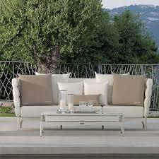 divano giardino salotto da giardino in tessuto bianco talenti pad arredo giardino