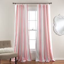 Gray And Pink Curtains Lush Decor Wilbur Stripe Room Darkening Window Curtain