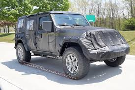 jeep wrangler jacked up spied 2018 jeep wrangler jl unlimited up close 2018 jeep