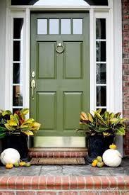 fall front door refresh green front doors front doors and