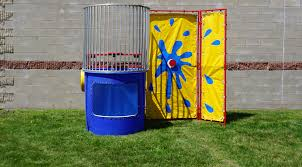 dunk booth rental dunk tank rental iowa city cedar rapids ia towable
