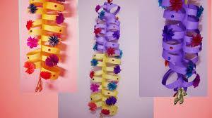 diy making colourful paper door hanging best home decor designs