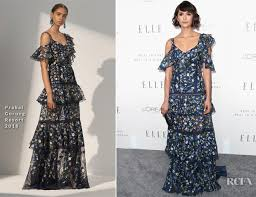 nina dobrev in prabal gurung elle u0027s 24th annual women in