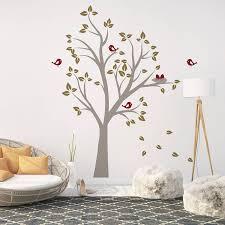 birds nests in tree wall sticker by parkins interiors birds nests in tree wall sticker