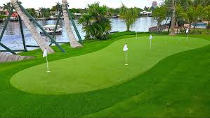 install your home putting green with synthetic grass turf from