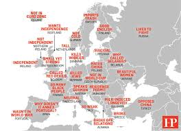 europe map by country this map shows china s hilarious stereotypes of europe foreign