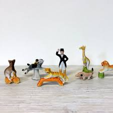 circus cake toppers vintage circus animal cake toppers from umbrellafant