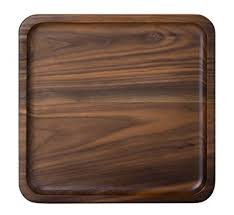 square tray for coffee table amazon com rustic walnut wooden tray solid wood serving tray square