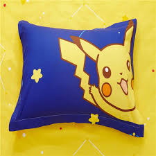 Pikachu Comforter Set Pokemon Bedding Set Cartoon Kids Favorite Home Textile Pikachu In