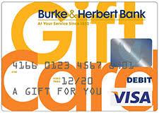 bank gift cards burke herbert bank personal banking visa gift cards