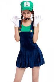 Super Mario Halloween Costume Womens Cartoon Halloween Costume Super Mario Green Zaydle