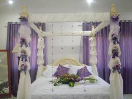 White Bedding Decorating Ideas Beautiful Bridal Bedroom Decor With White Bedding And Purple