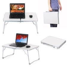 zipom laptop stand bed table portable standing desk foldable