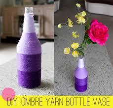 Diy Plastic Bottle Vase Home Diy How To Make An Ombre Yarn Bottle Vase Bespoke Bride