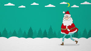 animated santa claus santa forestan animated santa claus comes in the winter woods