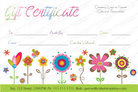 black splashes gift certificate template beautiful printable