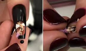 Nails Is Nuts The Daily Upper Decker - russian nail artist creates intricate pole dancer design daily