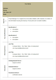 Blank Resume Examples by Blank Format Of Resume