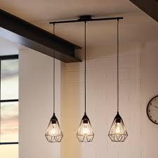 barre suspension cuisine suspension barre 3 lumières en fil de métal longueur 79cm tarbes