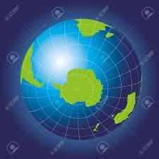 Antarctic Flag Antarctica And South Pole Map Antarctica Australia America