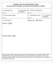 construction deficiency report template corrective form template functional gallery 5 report