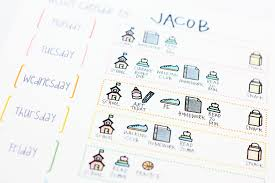 sweet stamp shop weekly planner chart for kids mom run craft