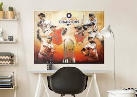 houston astros 2017 world series champs mural wall decal shop houston astros 2017 world series champs fathead wall mural