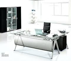 glass top office desk glass top office table modern executive glass computer desk l shaped
