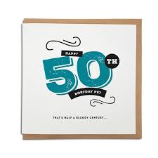 50th birthday cards 50th geordie birthday card geordie gifts