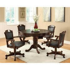 Dining Room Chairs Atlanta by Turk 3 In 1 Round Pedestal Game Table With 4 Chairs Atlanta Fine