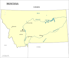 Montana River Map by Montana State Map Map Of Montana And Information About The State