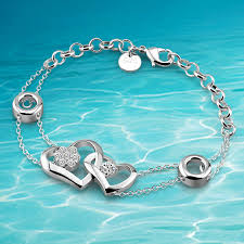 solid sterling silver charm bracelet images Solid genuine 925 sterling silver charm link chain bracelet for jpg