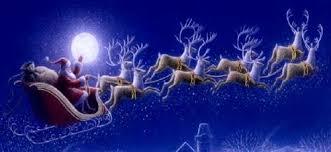 santa sleigh and reindeer flying reindeer science home